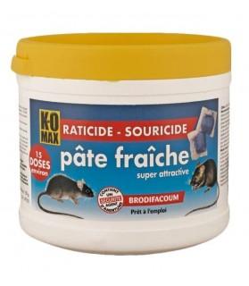 Raticide & Souricide KOMAX pâte fraiche 150 g