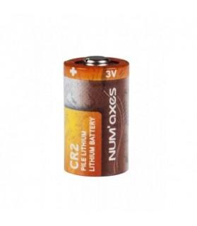 Pile CR2 3 V Lithium Cylindrique NUM AXES x 2