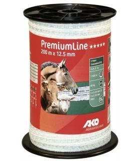 Ruban de clôture blanc / vert PremiumLine 200 m