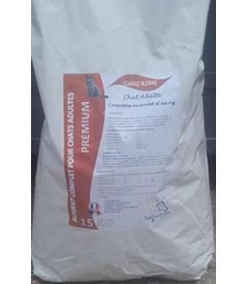Croquette Premium au Poulet et Riz pour Chat Adulte x 15 kg