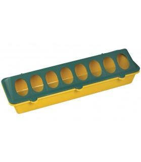 Mangeoire plastique 8 trous Long 30 cm pour poussin et caille