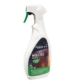 Répulsif Insectes Protecta Anti-taons, Mouche, Moustique, Mouche plate et Moucheron pour Cheval x 1 L
