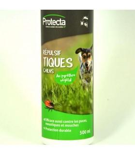 Répulsif Tiques & Puces Protecta pour Chien x 500 ml