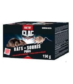 Raticide & Souricide RATU'CLAC pâte fraiche x 150 g