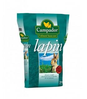 Lapin Aliment complet CAMPADOR en Granulés pour Lapin Clapier x 25 kg