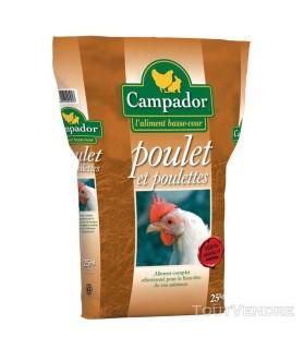 Poulet Croissance Aliment complet CAMPADOR en Granulés x 25 kg