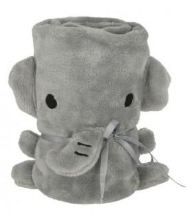 Couverture Elephant grise 72x51 cm pour Chiot