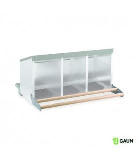 Perchoir en bois GAUN pour Pondoir 3 compartiments fond plastique pour Poule