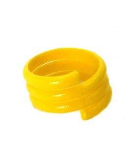 Bague spirale jaune diam 12 mm pour volaille x 20