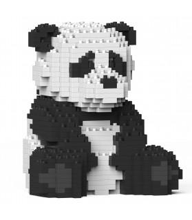 Panda Assis, en brique à monter soi-même