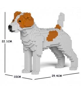 Chien Jack Russell Terrier taches marrons, en briques à monter soi-même
